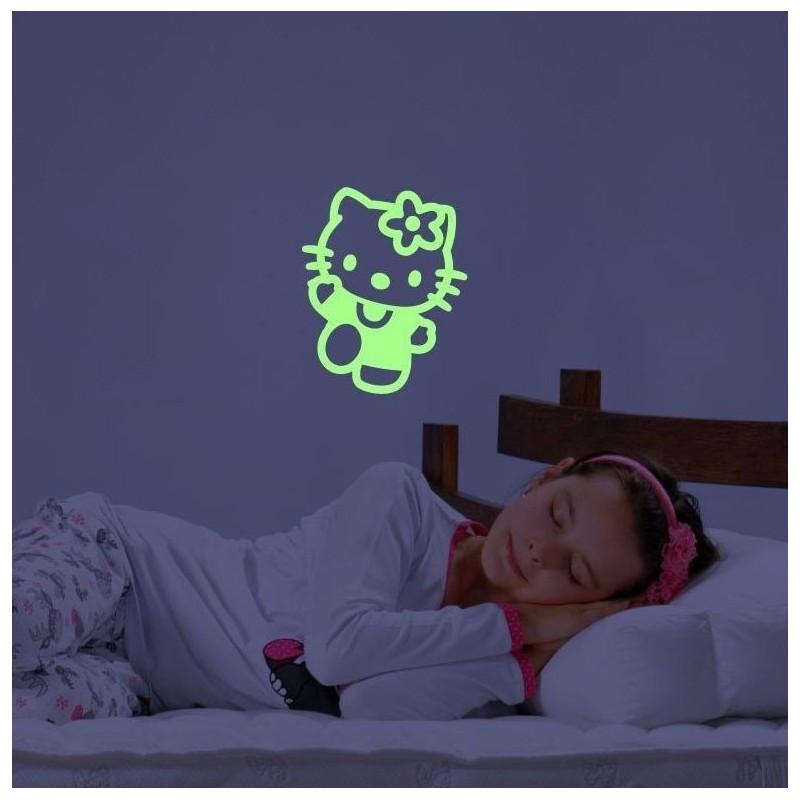 Hello Kitty sticker luminescent