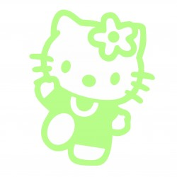 Hello Kitty sticker luminescent