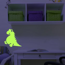 Dino, sticker luminescent autoadeziv