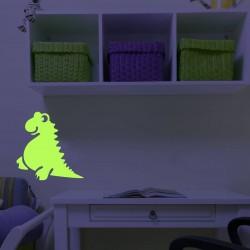 Sticker decorativ glow model Dino