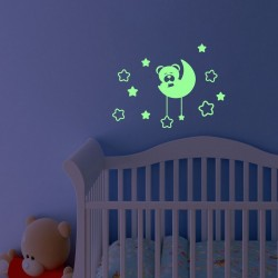 Sticker luminescent Ursulet&Luna