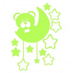 Sticker luminescent Ursulet&Luna