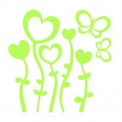 Flori inimioara fosforescente, set 5