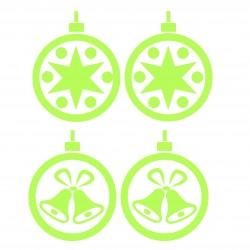 Sticker globuri fosforescente, set 4 bucati