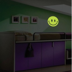Sticker Smiley fosforescent 19 cm