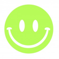 Sticker Smiley fosforescent 19 cm