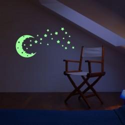 Luna instelata luminescenta cu 25 stelute