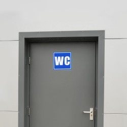Semn informare fosforescent WC