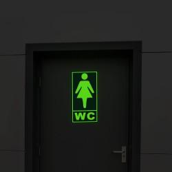 Semn informare fosforescent WC femei