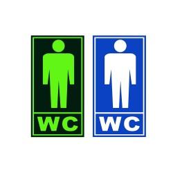 Semn informare fosforescent WC barbati