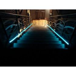 Banda fosforescenta luminoasa autoadeziva glow turquoise
