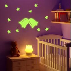 Sticker decorativ glow luminos model 2 clopotei