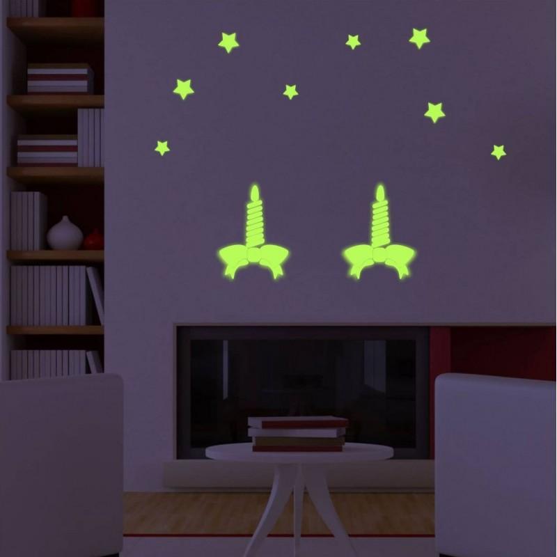 Sticker lumanari Craciun luminescente