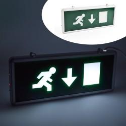 Semn de siguranta LED cu acumulator, EXIT jos