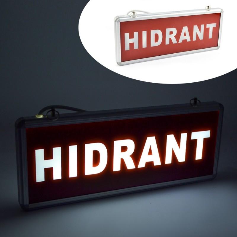 Panou de informare LED cu acumulator, semn HIDRANT