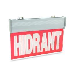 Panou de informare LED, afisaj HIDRANT, cu acumulator