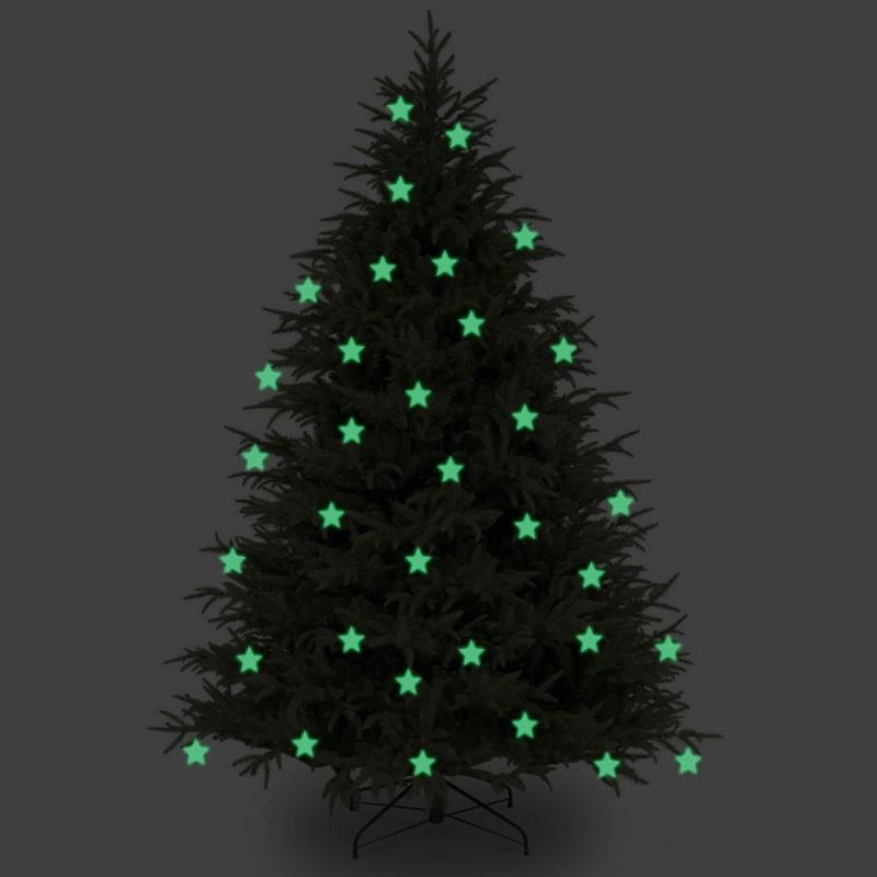 Stelute glow pentru pomul de Craciun set 10 bucati
