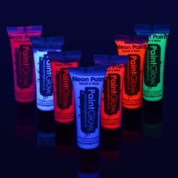 Set 7 culori vopsea pentru fata si corp fluorescenta