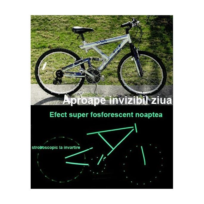 Kit bicicleta nocturna fosforescenta verde