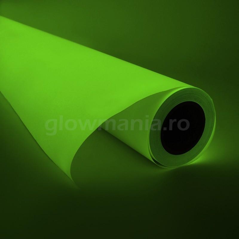 Folie de vinil autoadeziva fotoluminiscenta verde 13 ore glow