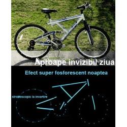Kit bicicleta nocturna fosforescenta turquoise