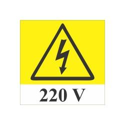 Semn avertizare pericol electrocutare 220V fosforescent