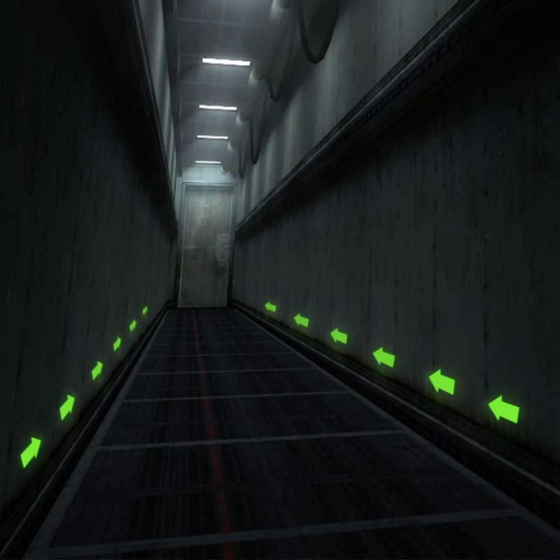 Sageata glow autoadeziva, 8x8 cm