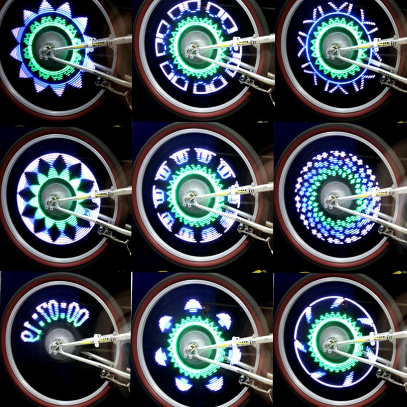 Kit tunning spite bicicleta 14 LED-uri 45 moduri iluminare