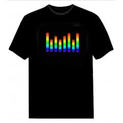 Tricou luminos cu egalizator Rainbow