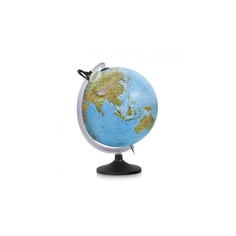 Glob geografic in relief Uranio iluminat 30 cm