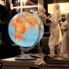 Glob geografic Lumierissimo iluminat 30 cm si meridian argintiu