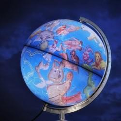 Glob geografic Stelar iluminat 30 cm