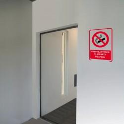 Semn fosforescent Incapere cu fumat interzis