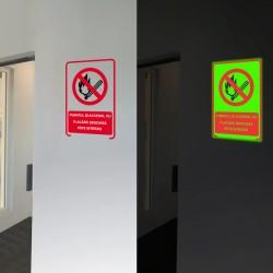 Indicator fosforecent Fumat si flacara interzise