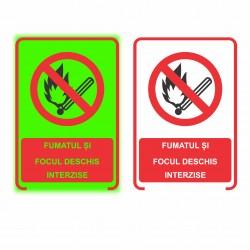Indicator fosforescent Interzis fumatul si focul
