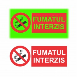 Semn fosforescent Fumatul interzis