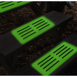Pres antiderapant fosforescent, glow in the dark, din silicon, 39 x 17.8 cm