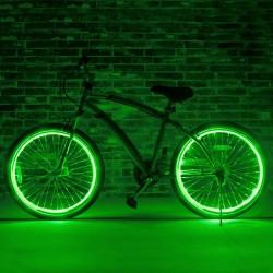 Kit fir luminos El Wire pentru tuning roti bicicleta, lungime 6 m, invertoare incluse