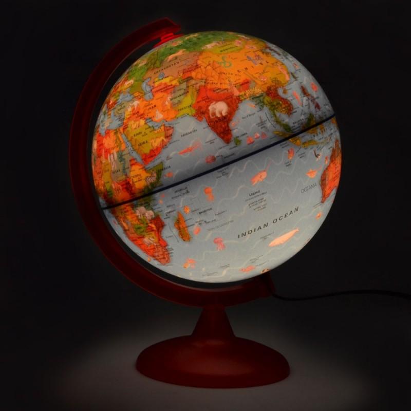 Glob pamantesc ZOO GLOBE luminat, 25CM