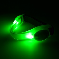 Bratara luminoasa cu LED si insertie reflectorizanta