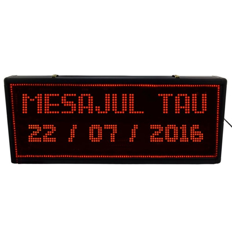 Reclama exterior LED rosu, afisare text, grafice, efecte personalizabile