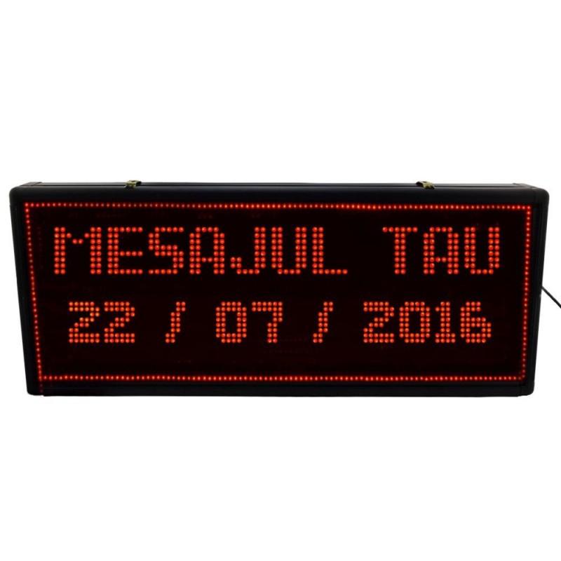 Reclama LED luminoasa pentru interior, text personalizabil, 100x40 cm
