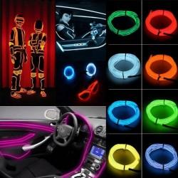 Fir LED EL Wire pentru imbracaminte si efecte speciale