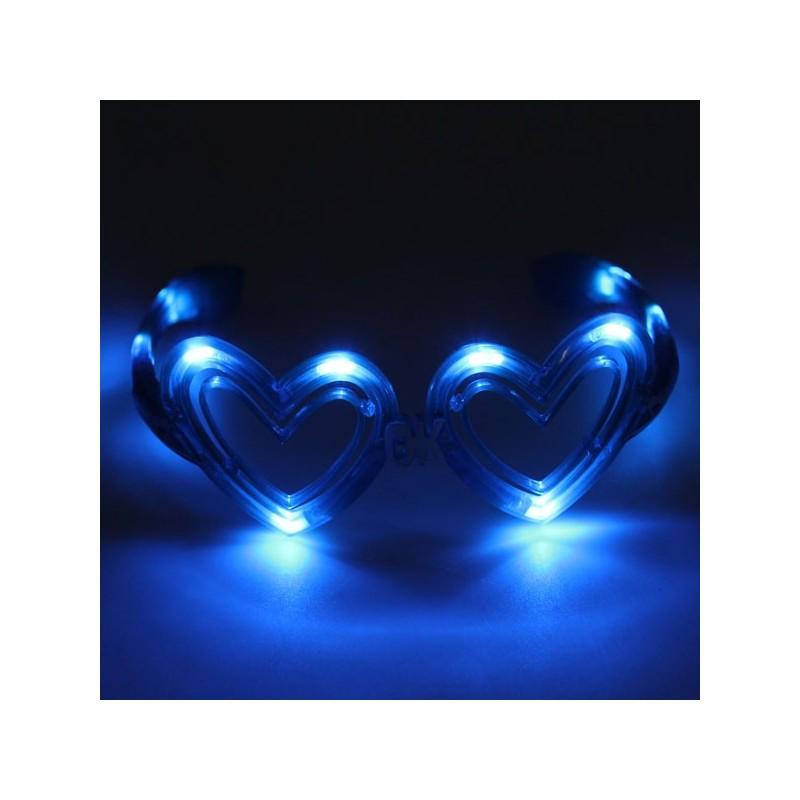 Ochelari cu LED inimioara albastru