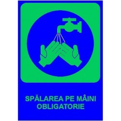 Semn fosforescent Spalarea pe maini este obligatorie