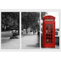 Set Tablou Dual-View Cabina telefonica Londra