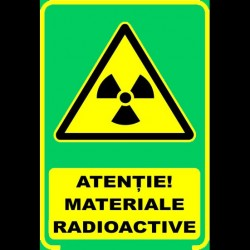 Semn fosforescent Pericol Radioactiv