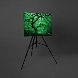 Tablou canvas fosforescent Artar alb-negru, 40x20 cm