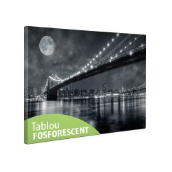 Tablou canvas fosforescent Brooklin Bridge, 60x40 cm