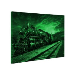 Tablou canvas fosforescent Fantastic Train, 60x40 cm